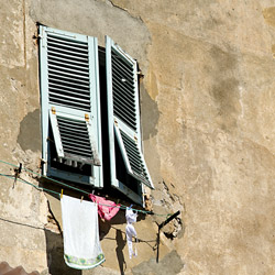 bastia-Corsica-france-clouse-hanging-from-the-window
