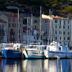 harbour view-Bonifacio-Corsica-france